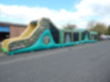4 Part Camo Bootcamp Run Bouncy Castle