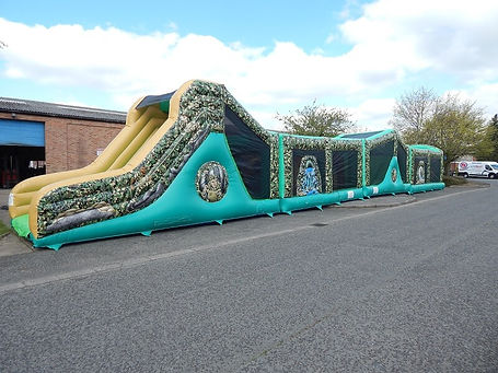 4 Part Camo Bootcamp Run Bouncy Castle