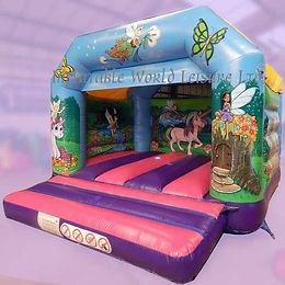Unicorns and Fairies A-Frame Bouncy Castle