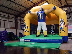 Bespoke American Football A-Frame Bouncy Castle