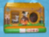 Farm theme Box Bouncer Bouncy Castle non woodgrain with Ball Pool area