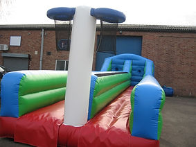 Inflatable Bungee with Basketball target at the end of the run