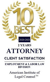 american institute of legal counsel 10 best attorney client satisfaction badge