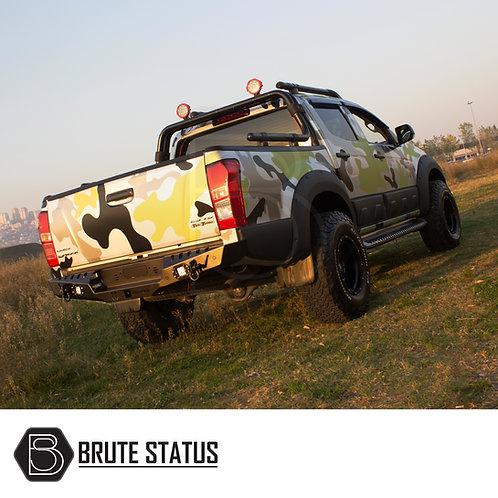 Isuzu D-Max 2012+ Rear Bumper Matt Black