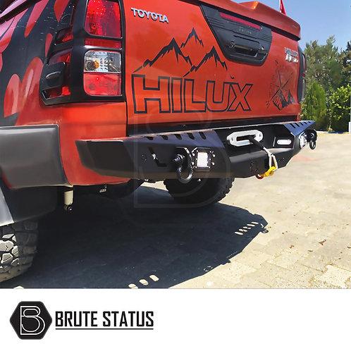 Toyota Hilux 2015+ Rear Bumper Matt Black