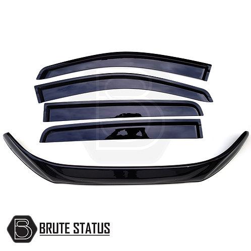 Ford Ranger 2016+ Bonnet Guard Protector & Window Wind Deflectors