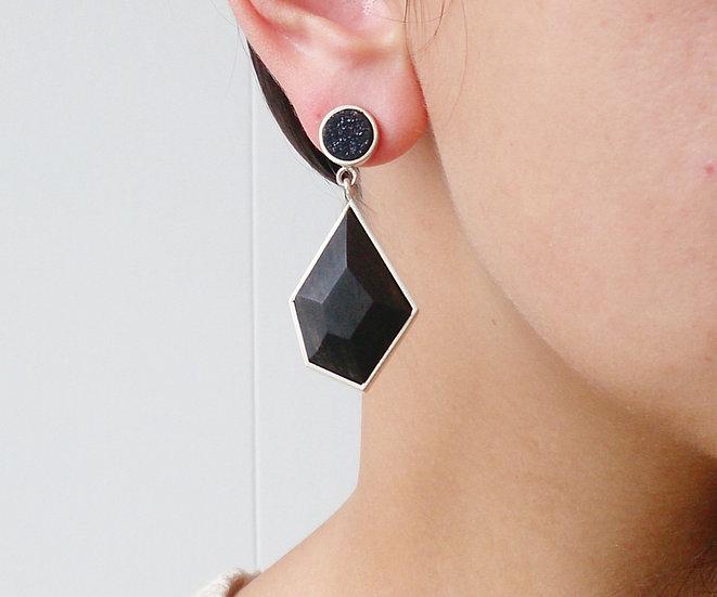 GF Earings with Onyx