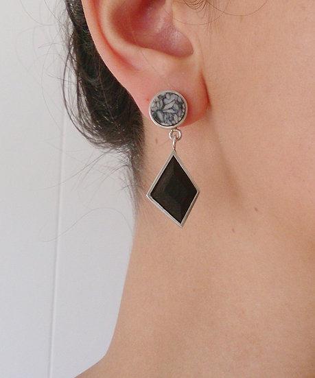 GF Earrings Pinolite