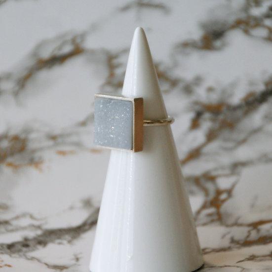 Ring WHITE Agate / Big