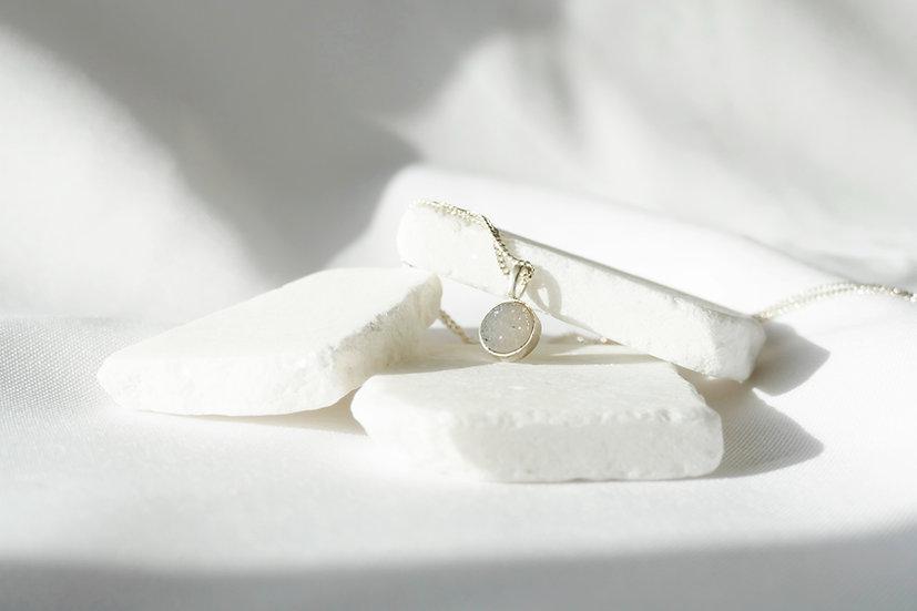 Pendant WHITE agaat/ Small