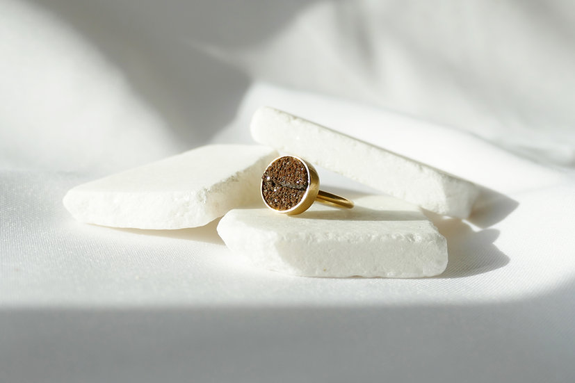 Ring Petrfied wood/Medium