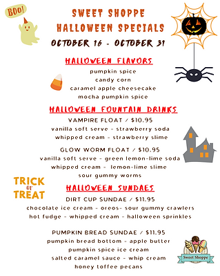 Copy of sweet shoppe halloween specials_