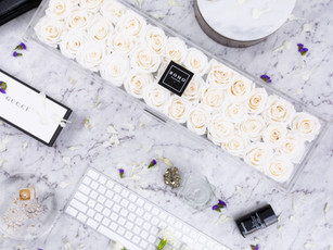 Deluxe Ivory Bloom Box