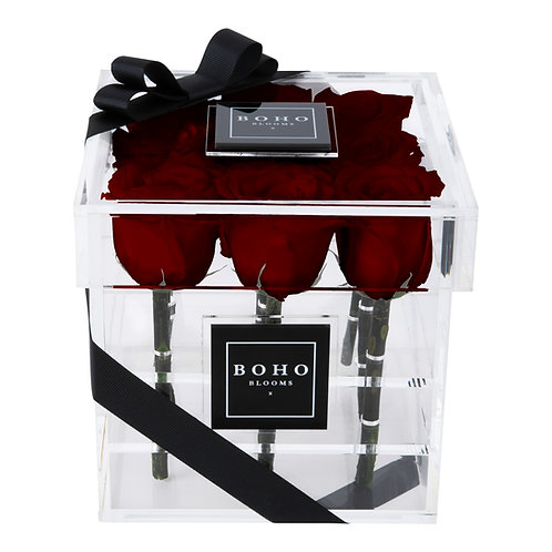 Wine Red Mini Bloom Box