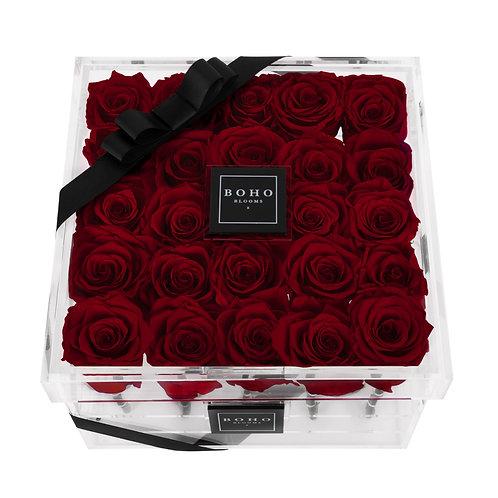 Wine Red Classic Bloom Box