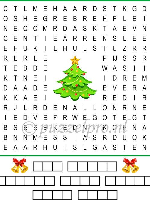 Woordzoeker Kerst