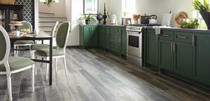 Novalis Flooring, White Wave Design