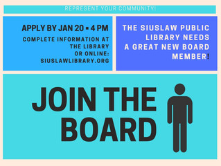 Want to serve your community? Join the Library Board!
