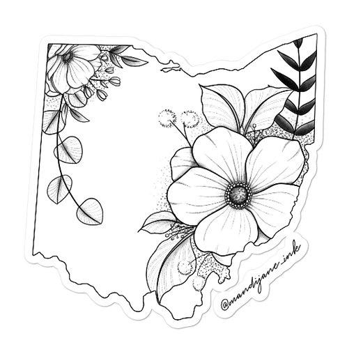 STICKER- Floral Ohio