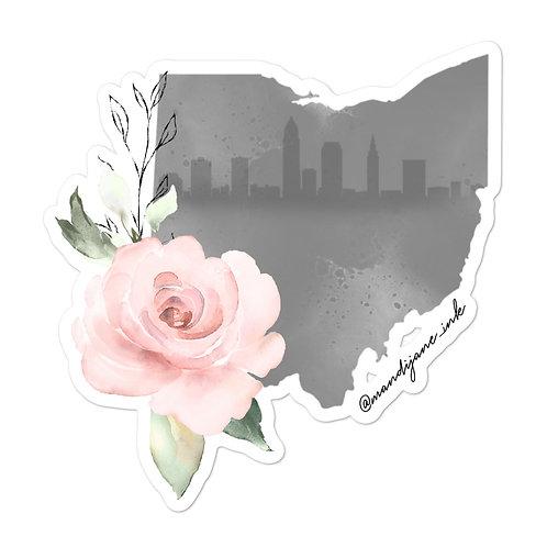 STICKER- Cleveland Skyline