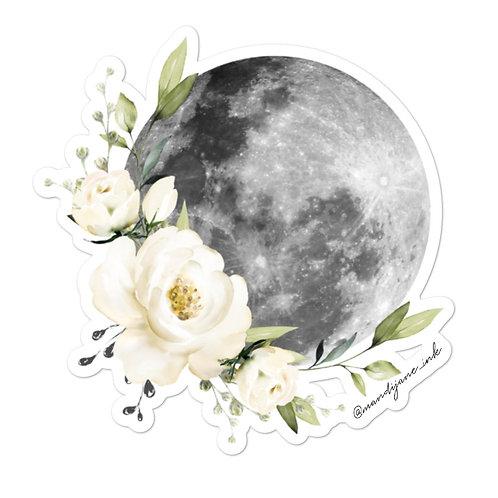 STICKER- Floral Moon