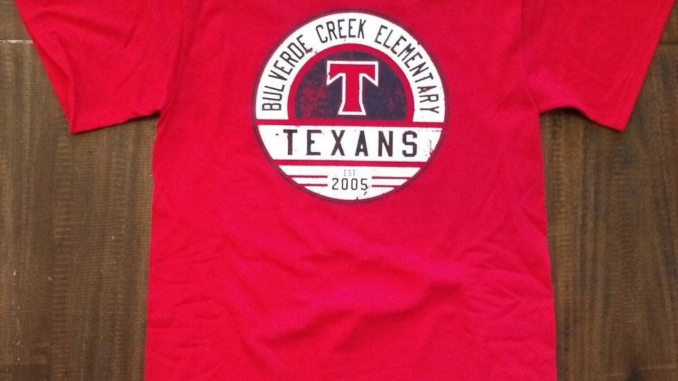 """Red Texans """"T"""" Spirit Shirt"""