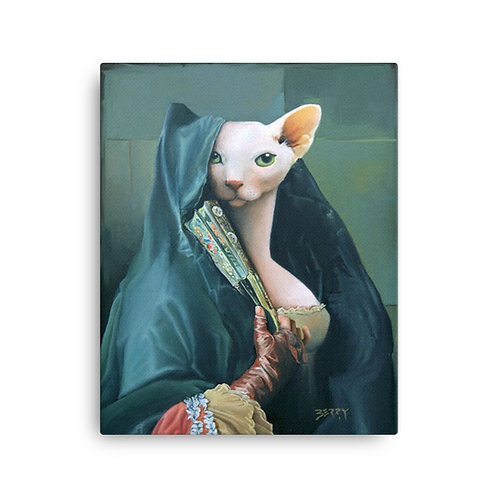 16 x 20 Contessa with Oriental Fan Canvas Print