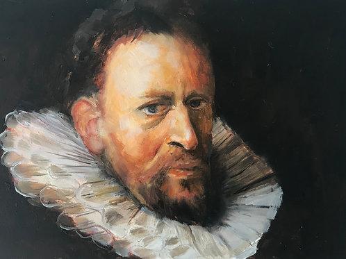 "Master Study after Franz Hals 5 x 7"""