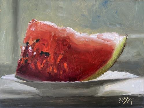 """Watermelon Slice 6 x 8"""""""