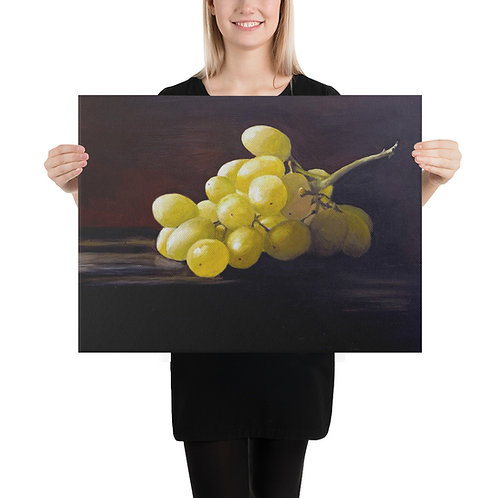 (Multi Size) Green Grapes Canvas Print