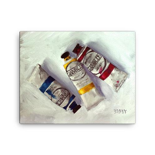 16 x 20 Paint Tubes Canvas Print