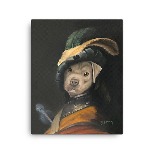 16 x 20 Dog in a Gorget and Cap