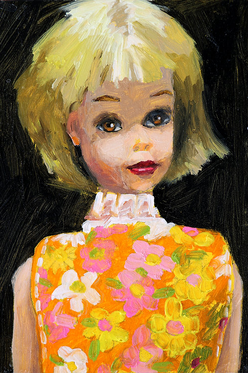 """Vintage Francie Barbie 6 x 8"""""""