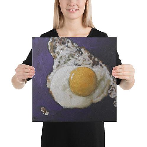 16 x 16 Fried Egg Canvas Print