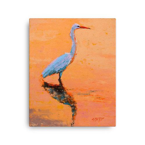 16 x 20 Morning Heron Canvas Print