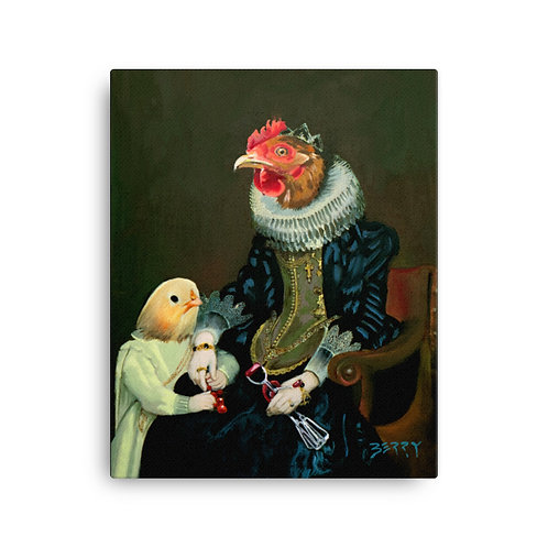 16 x 20 Madonna with Chick Canvas Print