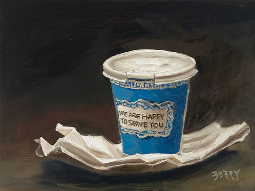"New York Coffee Cup 6 x 8"""