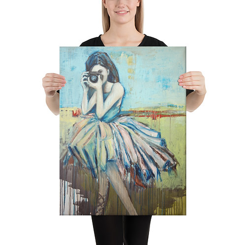 18 x 24 Camera Girl Canvas Print
