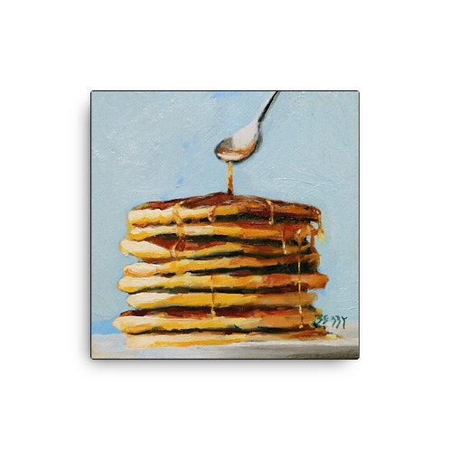 16 x 16 Pancakes Canvas Prints