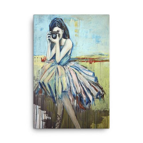 24 x 36 Camera Girl Canvas Print