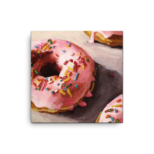Pink Donut Canvas Print