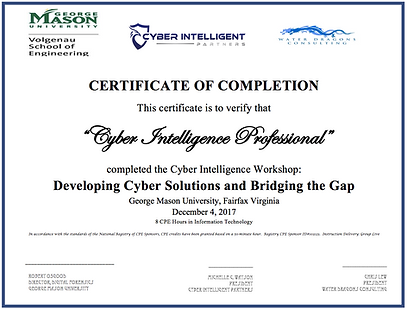 CIP certificate of completion