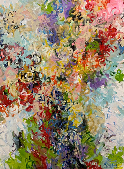 new abstract floral with brush