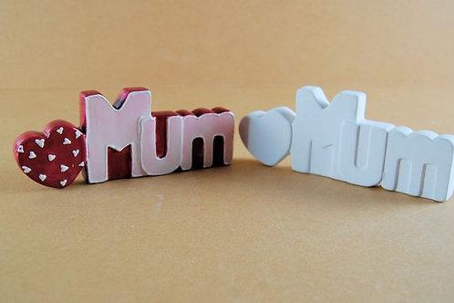 Mum plaque