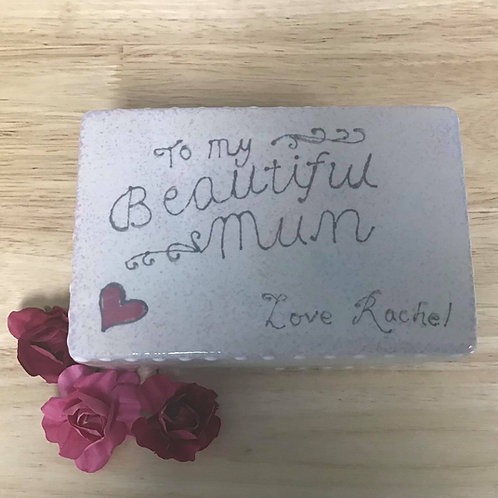 Personalised Mothers Day rectangle trinket box