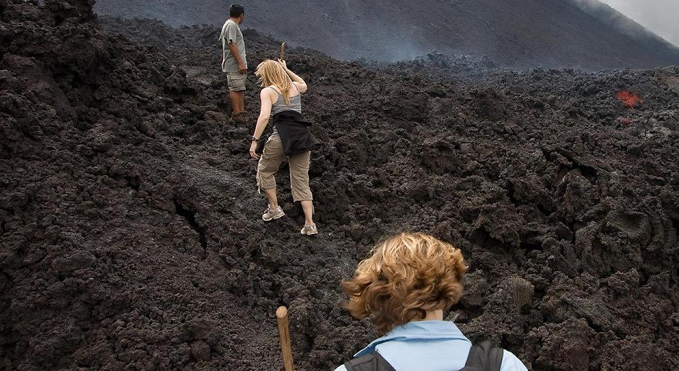 Sube un volcán