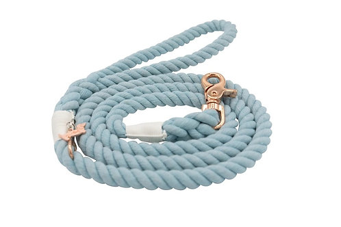 Sassy Woof Rope Leash - Clouds