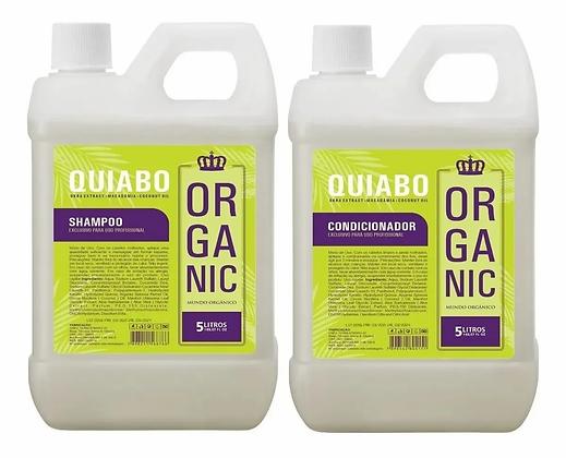 Shampoo+condicionador Galão 5L Lavatório Quiabo Organic