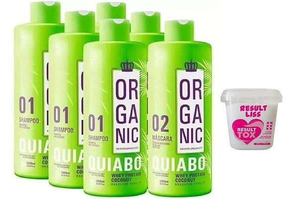 3 kit Escova Progressiva De Quiabo Organic Fioperfeitto 2x1000ml + brinde