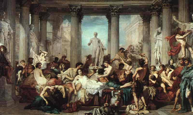 A painting depicting saturnalia celebrations